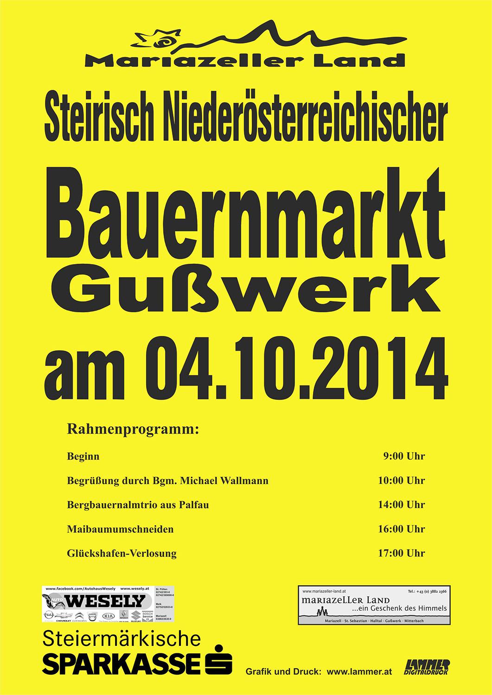 Postwurf Bauernmarkt 2014
