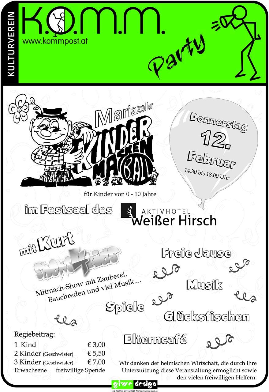 Kindermaskenball-Mariazell-plakat-2015