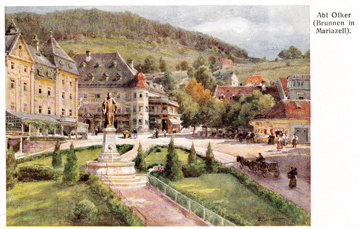 Mariazell-Hauptplatz-Alte-Ansicht