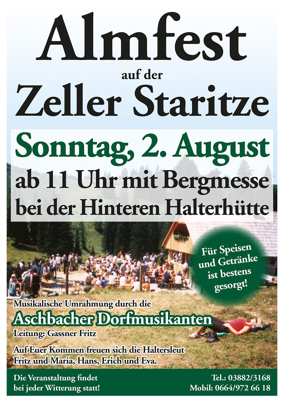 Almfest auf der Zeller Staritze » mariazell.blog