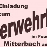 Termintipp: Feuerwehrfest in Mitterbach 2016