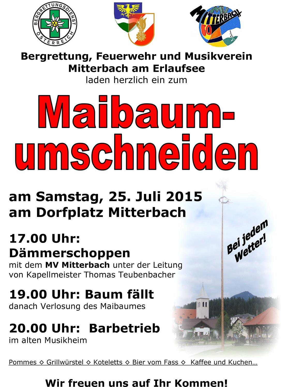 Maibaumumschneiden_2015_Plakat_Mitterbach