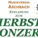 Termintipp: Herbstkonzert des MV-Aschbach 2017