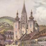 Bild der Woche: Ansicht der Basilika Mariazell um 1800