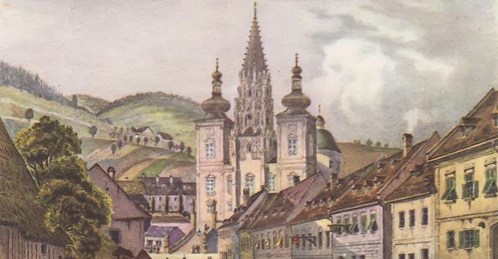 Mariazell-Basilika-um-1800