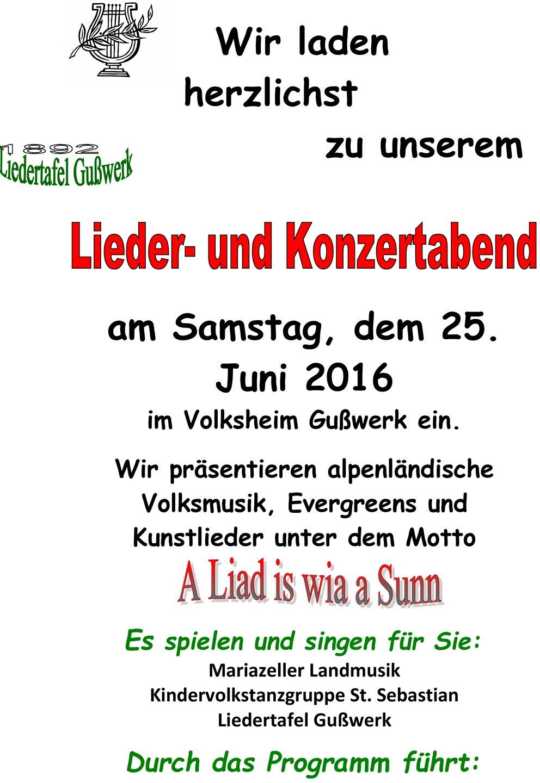 Liedertafel-Gusswerk-Liederabend