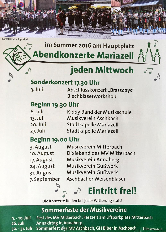 Mariazelle-Mittwoch-Konzerte