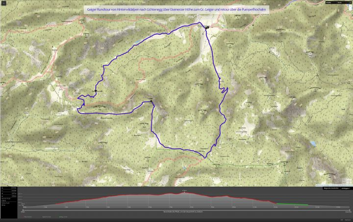 Geiger-Outdooractiv-Route