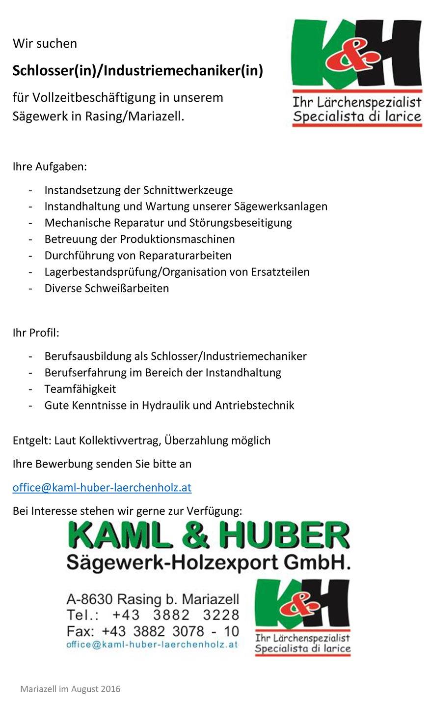 Stelle-Schlosser-Kaml-Huber