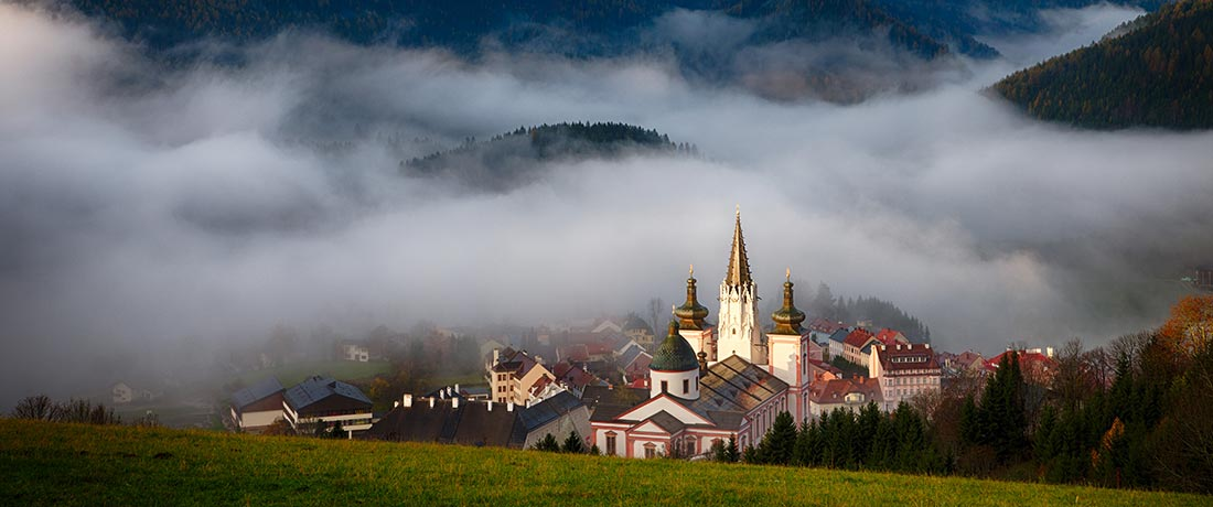 Blick auf Mariazell