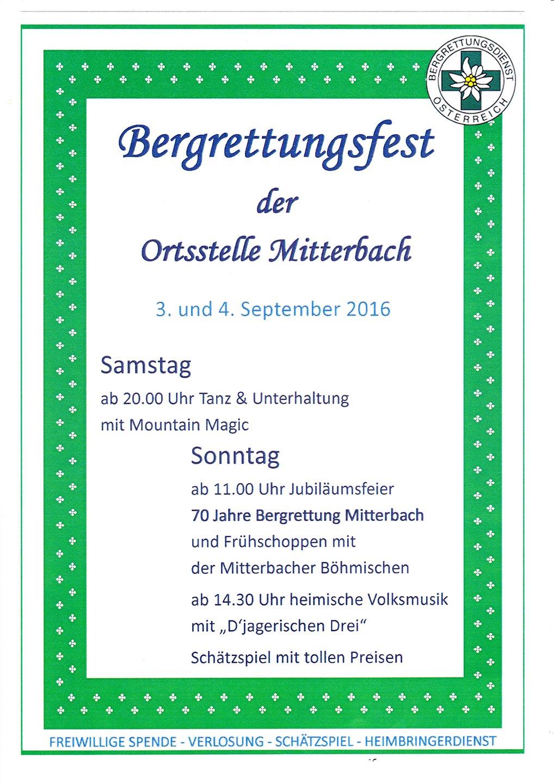 Mitterbach-Bergrettungsfest