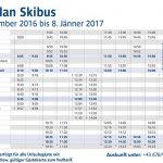 Skibus-Fahrplan Weihnachtsferien 2016