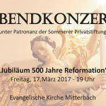 Termintipp: Abendkonzert in der Evangelischen Kirche Mitterbach