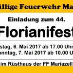 Einladung zum Florianifest der FF-Mariazell 2017