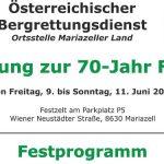 Einladung zur 70-Jahr Feier der Bergrettung Mariazellerland