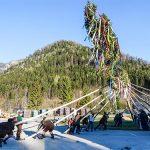 Maibaumaufstellen beim Franzbauer im Salzatal 2017