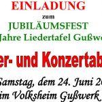 125 Jahre Liedertafel Gußwerk – Jubiläumsfest