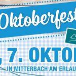 Termintipp: Oktoberfest in Mitterbach und im Ko'eck 2017