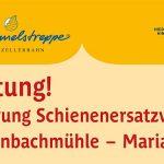 Mariazellerbahn Streckensperre Laubenbachmühle - Mariazell Schienenersatzverkehrsinfo