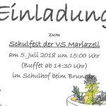 Termintipp: Schulfest der VS Mariazell