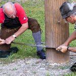 Maibaumumschneiden beim Franzbauer im Salzatal 2018