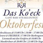 Termintipp: Oktoberfest im Ko'eck 2018