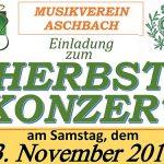 Termintipp: Herbstkonzert des MV-Aschbach 2018