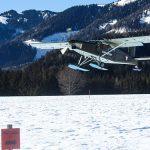 1. Landung mit Kufen am Flugplatz Mariazell