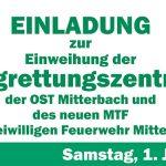 Veranstaltungstipp: Einweihungsfeier Bergrettungszentrale OST Mitterbach