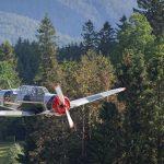 Eintreffen der Gebirgspiloten am Flugplatz Mariazell