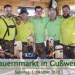 Termintipp: 28. Bauernmarkt in Gußwerk am 5. Okt. 2019