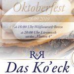 Termintipp: Oktoberfest im Ko'eck 2019