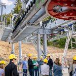 """Baustellenbegehung der Einseilumlaufbahn """"Bürgeralpe Express"""""""