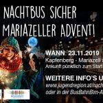 Mit dem Nachtbus sicher zum Mariazeller Advent