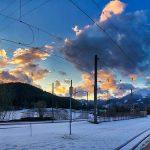 Bild der Woche: Abendstimmung am Bahnhof Mariazell