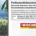 Termintipp: Podiumsdiskussion zur Gemeinderatswahl