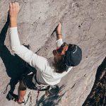 Bild der Woche: Chrisi in seiner Sauwand-Kletterroute