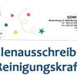 Stellenausschreibung: Reinigungskraft bei Gowi GmbH in Mariazell