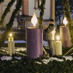 4. Adventkerze am großen Adventkranz in Mariazell entzündet