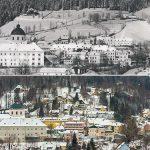 Serie: Einst & Jetzt | Mariazell im Winter 1925 und 2021