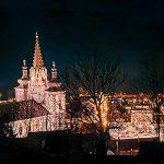 Bild der Woche: Basilika Nachtaufnahme - Augenblick Kalvarienberg