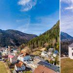 Ungewöhnliche Ansichten von Gußwerk und der Sebastiani Kirche