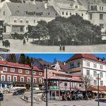 Serie: Einst & Jetzt | Mariazell oberer Hauptplatz 1912 und 2021