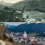 Serie: Einst & Jetzt | Mariazell mit Sauwand - Buschniggweg 1925 und 2021