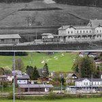 Serie: Einst & Jetzt | Bahnhof Mariazell / Sankt Sebastian 1907 und 2021