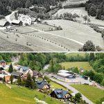 Serie: Einst & Jetzt | Gasthaus Franzbauer, Salzatal 1959 und 2021