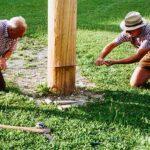 Maibaumumschneiden beim Franzbauer im Salzatal - 14. August 2021