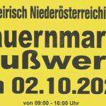 Termintipp: 30. Bauernmarkt in Gußwerk am 2. Okt. 2021