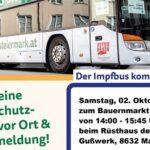 Impfbus in der Stadtgemeinde Mariazell - Ortsteil Gußwerk